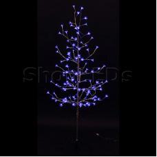 """Дерево комнатное """"Сакура"""", ствол и ветки фольга, высота 1.5 метра, 120 светодиодов синего цвета, трансформатор IP44 NEON-NIGHT"""