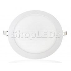 Светодиодная панель BRL-T-225-22W (белый круг, 22W, 225x13mm) (теплый белый 3000K)
